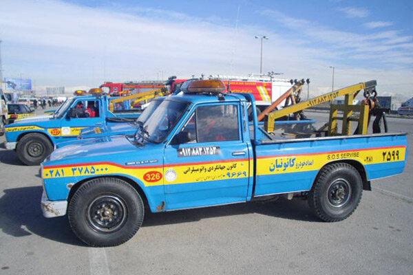 امداد خودروی کانونیان استان قزوین در خدمت مسافران نوروزی است