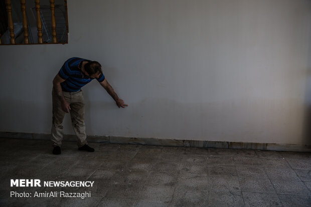 خسارات سیل در روستای اسفندان ساری