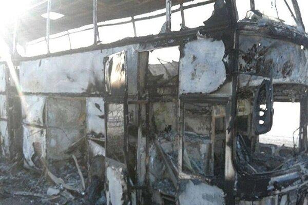 چین میں بس میں آگ لگنے سے 26 افراد ہلاک