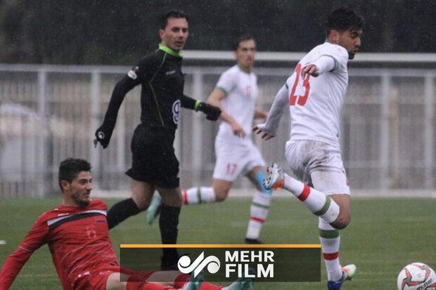 گل دوم تیم ملی امید ایران به ترکمنستان با ضربه دیدنی امید نورافکن