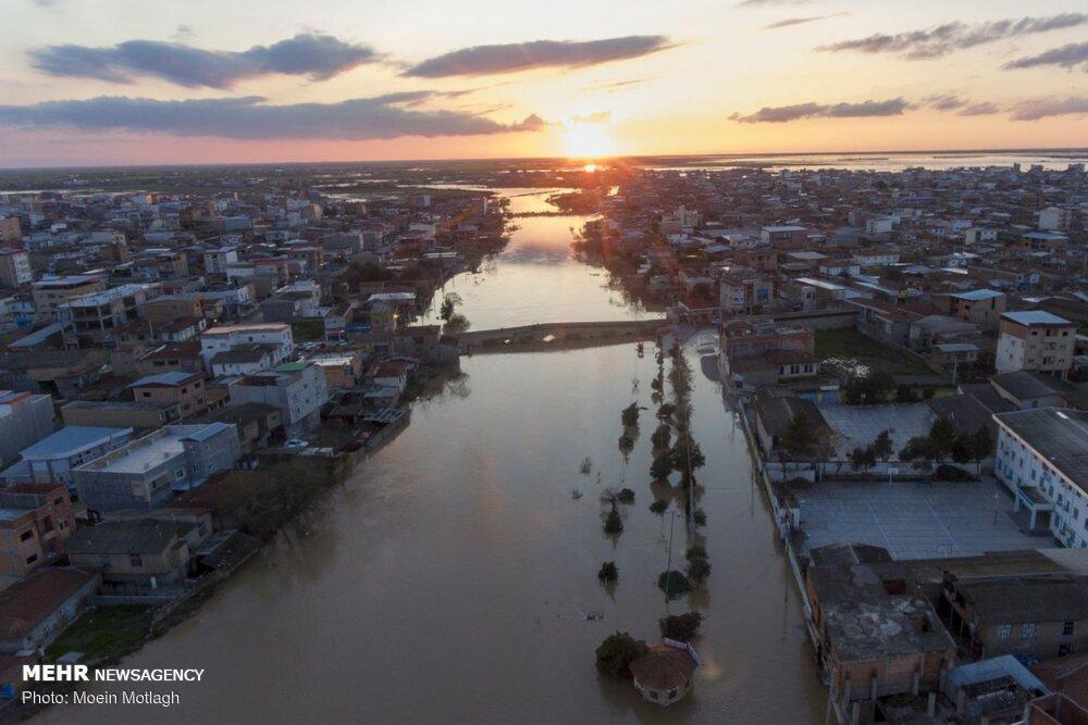 Aerial photos of Aqqala devastating flood
