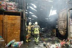 آتش سوزی در انبار کالا در جاده خاوران