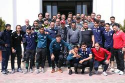 دیدار  بازیکنان تیم رسانه ورزش با اعضای تیم فوتبال امید