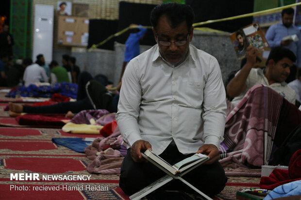 مراسم معنوی اعتکاف درهشتبندی هرمزگان