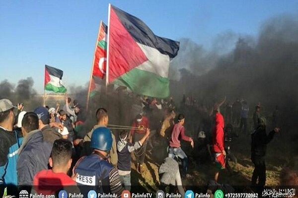 إصابة 83 فلسطينيا في الاعتداءات الصهيونية على مسيرات العودة