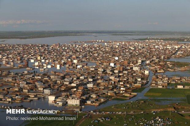 مناطق سیل زده آق قلا و سیمین شهر