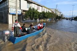 استمرار عمليات إغاثة منكوبي السيول شمال البلاد /صور