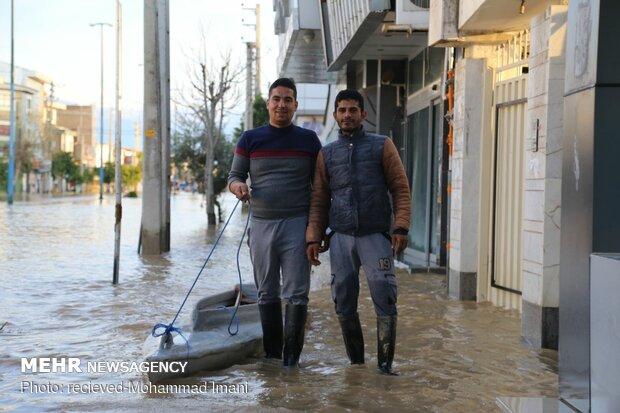امدادرسانی در مناطق سیل زده گلستان