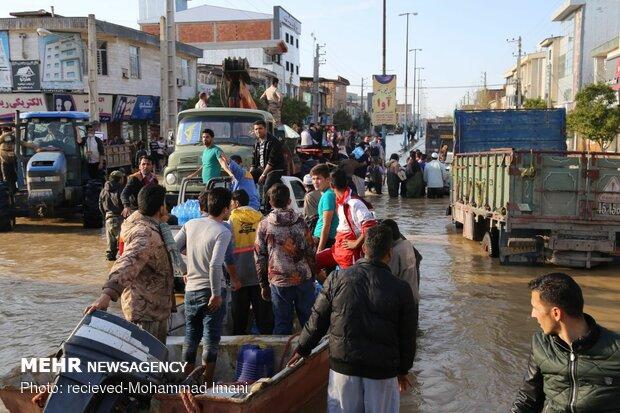 استمرار عمليات إغاثة منكوبي السيول شمال البلاد