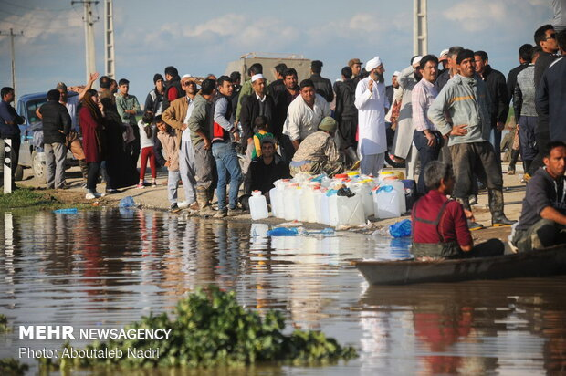 وضعیت مناطق سیل زده آق قلا