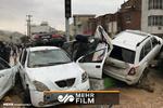 فیلمی از خسارت سیل به ماشینها در خیابانهای شیراز