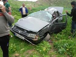 واژگونی خودروی پژو ۳ کشته برجا گذاشت