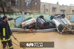 Şiraz kentinde sel felaketi