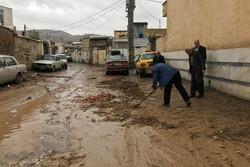 مشاهد عن احياء شيراز بعد تدفق السيول
