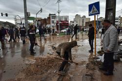 الخسائر التي خلفتها السيول في شيراز