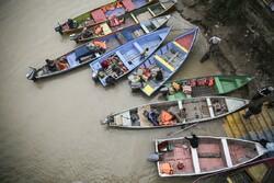 نجات جان ۱۰ سرنشین قایق تفریحی در خرمشهر