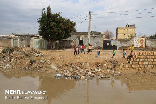 آب گرفتگی معابر و محلات بندرعباس