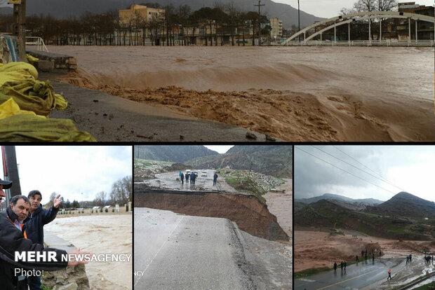 ۱۰۰۰ سیلزده آب ندارند/ تخریب ۱۷ نقطه از مسیر خرمآباد - پلدختر