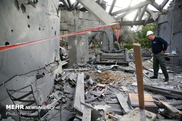 تل ابیب پر میزائل حملہ/ 7 صہیونی زخمی