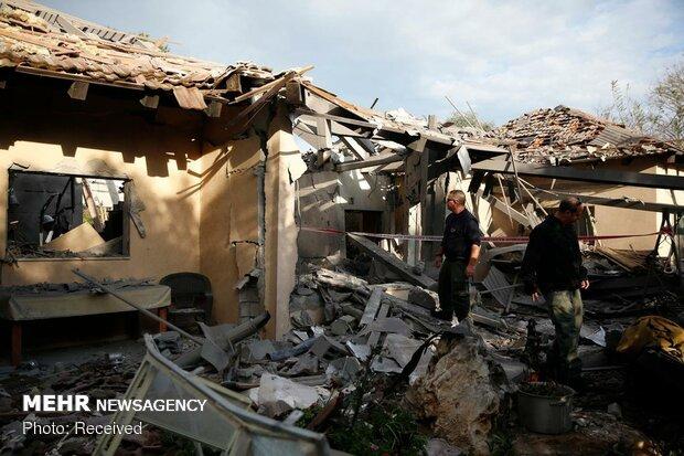 پاسخ موشکی مقاومت فلسطین به تل آویو