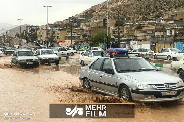 اولین فیلم از سیل دوباره در شیراز