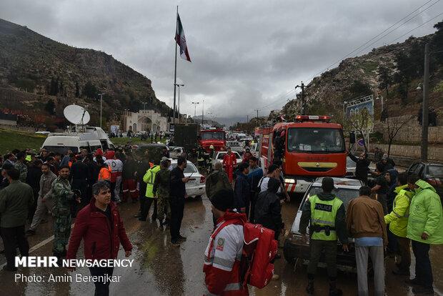 خسارات شدید بارش شدید باران در دروازه قرآن شیراز