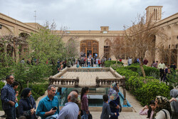 Travelers visit historical monuments of Yazd in Nowruz