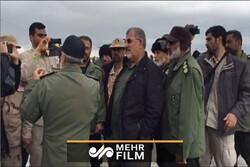 """العميد باكبور يتفقد المناطق المنكوبة جراء السيل في محافظة """"كلستان"""" / فيديو"""