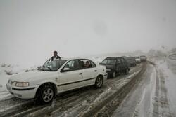 مه و کولاک حادثه ساز شد/تصادف زنجیره ای ۱۶ خودرو در محور فیروزکوه