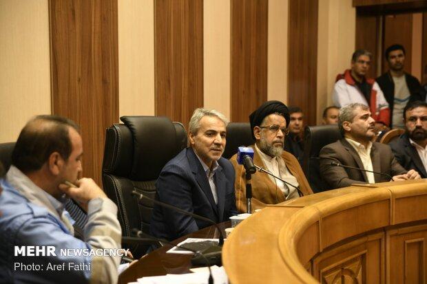 جلسه مدیریت بحران در شیراز