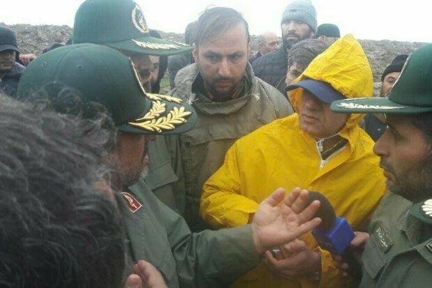 بازدید فرمانده سپاه از خدمات رسانی به مردم گلستان