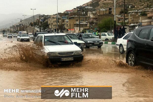 دروازه قرآن شیراز یک روز پس از سیل