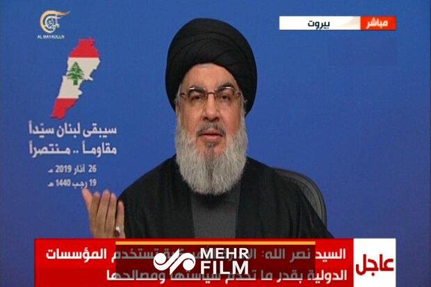 سید حسن نصرالله: آمریکا در حال تحمیل خود در منطقه است