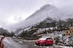 بارش برف بهاری در جاده چالوس