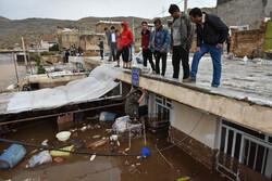 خسارات سیل در محله سعدی شیراز