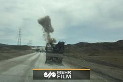 لحظة تفجير طريق جارقلي-كميشان