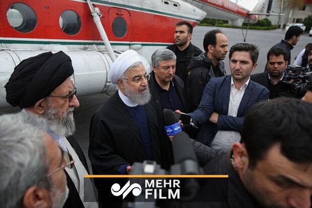 صدر حسن روحانی گلستان پہنچ گئے
