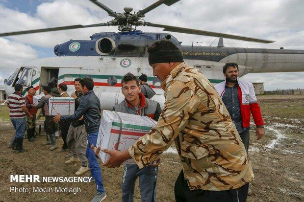 """عمليات الإغاثة في مدينة """"كميشان"""" شمالي ايران"""