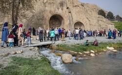 حضور بیش از ۱.۷ میلیون گردشگر در کرمانشاه /طاقبستان در صدر بازدیدها