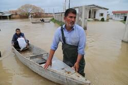صور جوية تكشف كمية السيول الكبيرة في كلستان