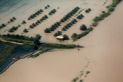 تلاش برای حل مشکل ورود سیلاب به اهواز ادامه دارد