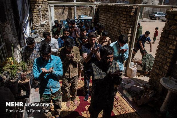 امداد رسانی به سیل زدگان محله سعدی شیراز