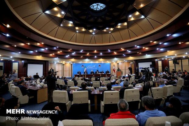 جلسه شوراي هماهنگي مديريت بحران استان گلستان با حضور حسن روحاني رئيس جمهور