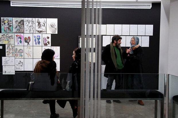 ورکشاپ هنری در یک نمایشگاه/ با پشت صحنه زندگی هنرمندان آشنا شوید