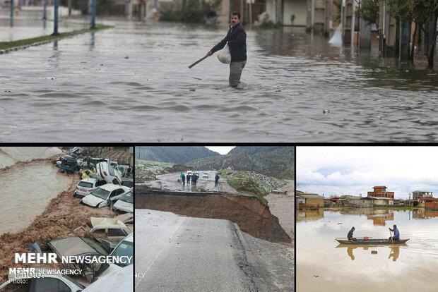 حصيلة ضحايا السيول في ايران ترتفع إلى 38 شخصا