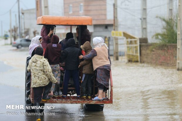 سیلاب در روستای میرزاعلی شهرستان آق قلا