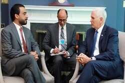 رایزنی معاون رئیس جمهور آمریکا و رئیس پارلمان عراق