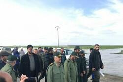 """اللواء جعفري يتفقد المناطق المحاصرة بالسيل في """"كلستان"""""""