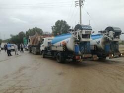 بازگشایی مسیلهای پخش سیلاب در سوسنگرد/ورود ماشینآلات از استانها