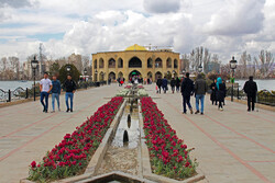 مسافران نوروزی در ائل گلی تبریز